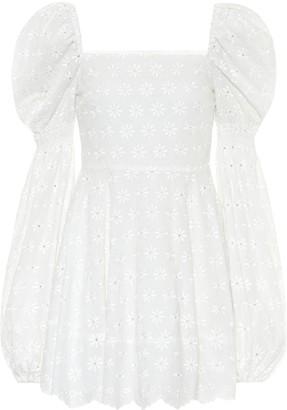 Caroline Constas Wren embroidered cotton minidress