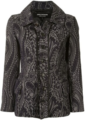 Junya Watanabe Comme Des Garçons Pre Owned Paisley Embroidered Denim Jacket