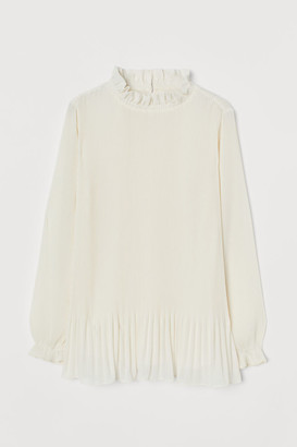 H&M Pleated Blouse - White