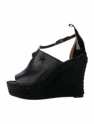 Givenchy Leather Studded Accents Espadrilles Black