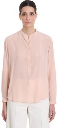 Stella McCartney Eva Shirt Blouse In Rose-pink Silk