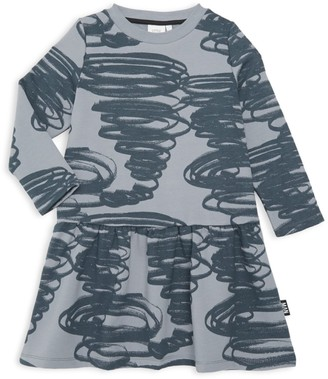 Little Man Happy Little Girl's & Girl's Tornado Organic Stretch Cotton Sweater Dress
