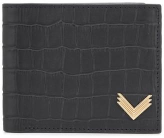 Manokhi Crocodile Embossed Leather Wallet