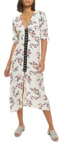 Topshop Women's Hook Front Floral Midi Dress
