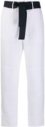 Eleventy Straight-Leg Linen Trousers