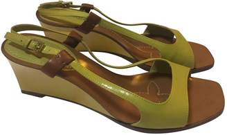 Louis Vuitton Green Patent leather Sandals