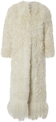 Givenchy White Shearling Coat for Women