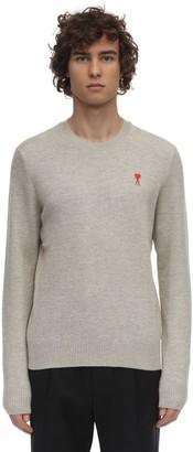 Ami Alexandre Mattiussi Logo Patch Crewneck Wool Knit Sweater