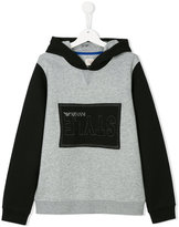 Armani Junior logo patch hoodie