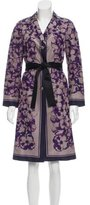 Celine Printed Silk Coat