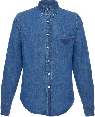 Prada Denim Button-Up Shirt
