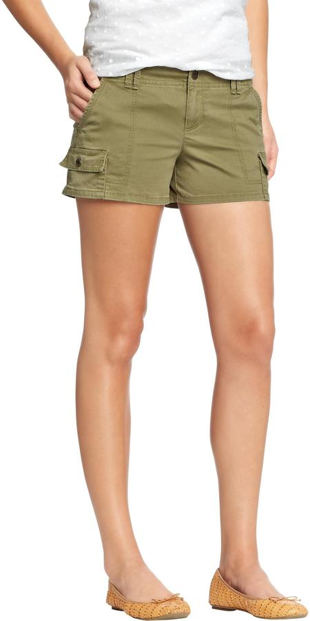 "Old Navy Women's Twill-Pocket Shorts (3-1/2"")"
