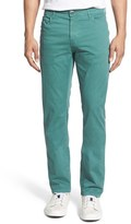 Bugatchi Five-Pocket Straight Leg Twill Pants