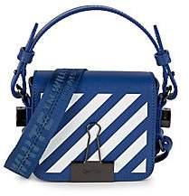 Off-White Women's Baby Diagonal Stripe Binder Clip Leather Crossbody Bag