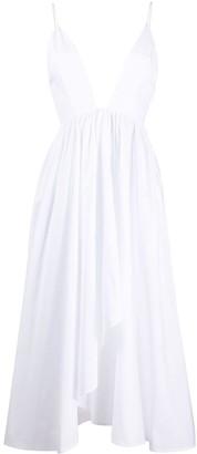 BROGNANO Plunge Style Midi Dress