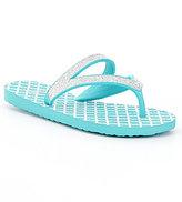 Sanuk Girls' Selene Crystal Flip-Flops