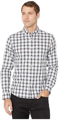 Michael Kors Long Sleeve Plaid (Midnight) Men's Clothing
