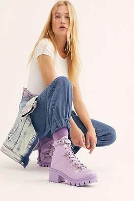 Jeffrey Campbell Check Lace-Up Boot by at Free People