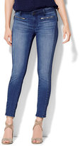 New York & Co. Soho Jeans Zip-Accent Ankle SuperStretch Legging - Theatrical Blue Wash