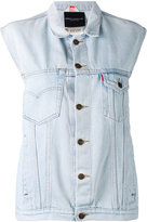 Erika Cavallini - denim gilet - women - Cotton - 42
