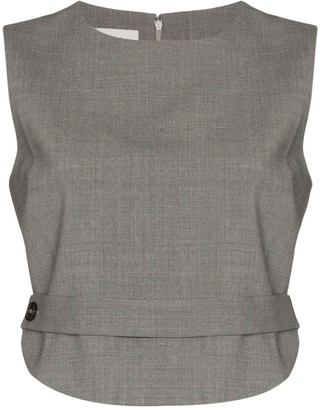 Coperni Open Back Crop Top