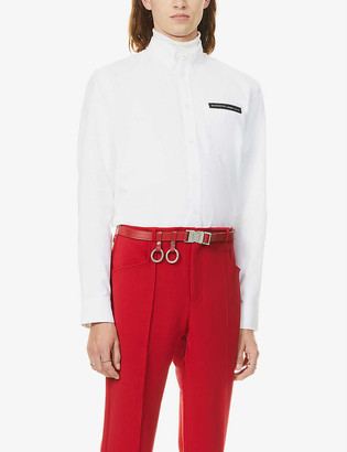 Givenchy Brand-tape casual-fit cotton shirt
