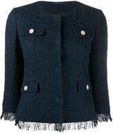 Tagliatore Meg tweed style cropped jacket