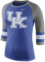 Nike Women's Kentucky Wildcats Team Stripe Logo Raglan T-Shirt