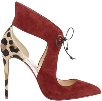 Christian Louboutin \N Red Suede Heels