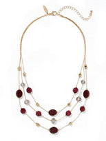 New York & Co. Triple-Row Faceted Bead Necklace