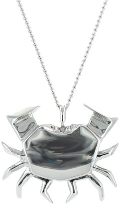 Origami Jewellery Crab Necklace Sterling Silver