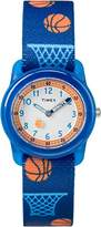 Timex Youth White Dial with a Blue Basketball Strap Watch TW7C16800