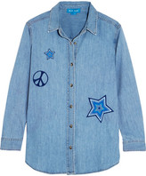 MiH Jeans Embroidered Denim Shirt - Mid denim