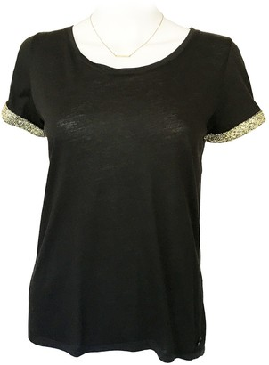Maison Scotch Black Cotton Top for Women
