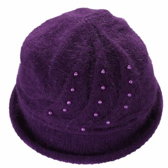 XueXian Bowler Hat Ladies Beanie for Women Ladies (Purple)