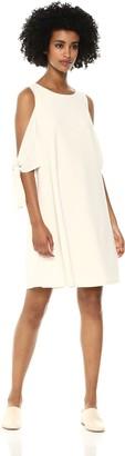 Taylor Dresses Women's Swing Crepe Dress with Cold Shoulder