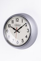 The Well Appointed House Telechron Metal Wall Clock in Silver