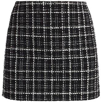 Alice + Olivia Elana Tweed Mini Skirt