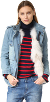 Jocelyn Denim Coat with Fox Fur Lining