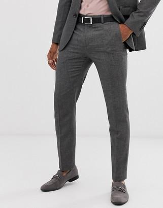 Burton Menswear slim suit trousers in mini grey check