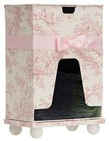 "Glenna Jean Isabella Diaper Caddy with Wipes Holder, Pink/Cream, 10"" x 7"" x 14"""