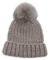 Eugenia Kim Rain Fox Fur Pom Hat