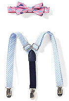 Starting Out Baby Boys Derby Horse Printed Bow Tie & Gingham Suspender Set
