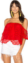 VAVA by Joy Han Laia Top in Red. - size L (also in M,S,XS)