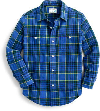 J.Crew crewcuts by Plaid Double Pocket Woven Shirt