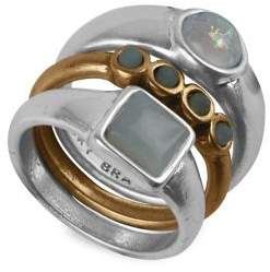 Lucky Brand Global Tribes Set of 3 Two-Tone Stackable Rings