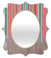 DENY Designs Stripe Happy Quatrefoil Mirror
