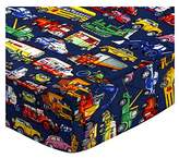 Camilla And Marc SheetWorld Fitted Cradle Sheet - Vehicles Galore - Made In USA - 18 inches x 36 inches (45.7 cm x 91.4 cm)