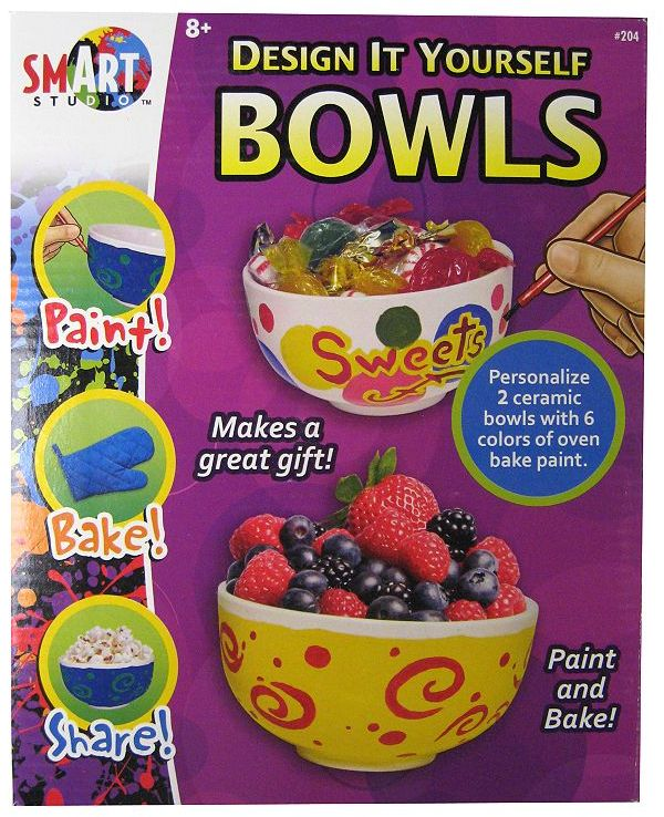 University Games Smart studio paint-a-pair o' bowls