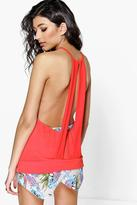 Boohoo Lexi Double Back Strap Swing Cami